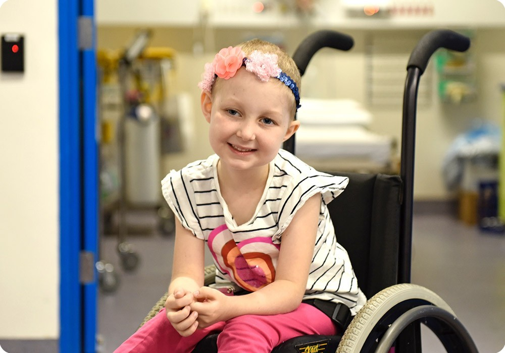 Patient Chloe in wheelchair - Sydney Children's Hospital Foundation