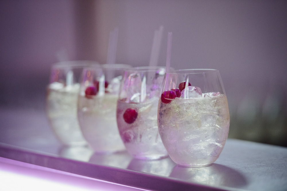 Row of cocktails at The Diamond Event