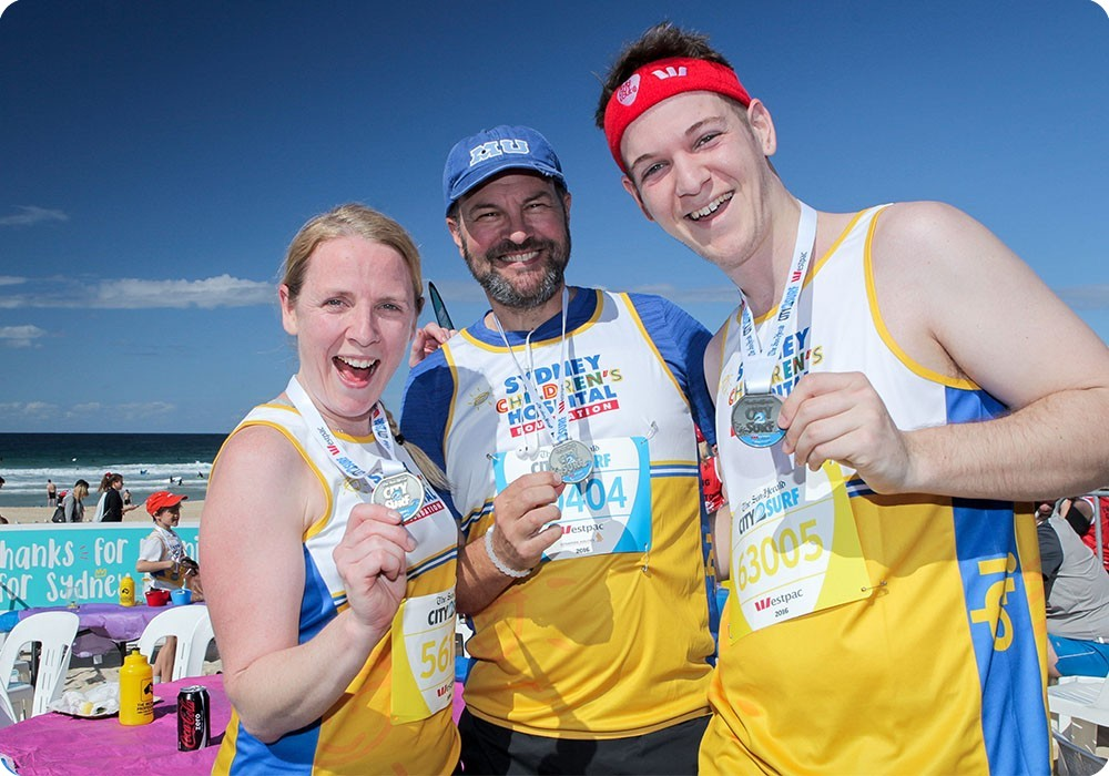Team Kids running at the Sydney City 2 Surf marathon - Sydney Children's Hospital Foundation