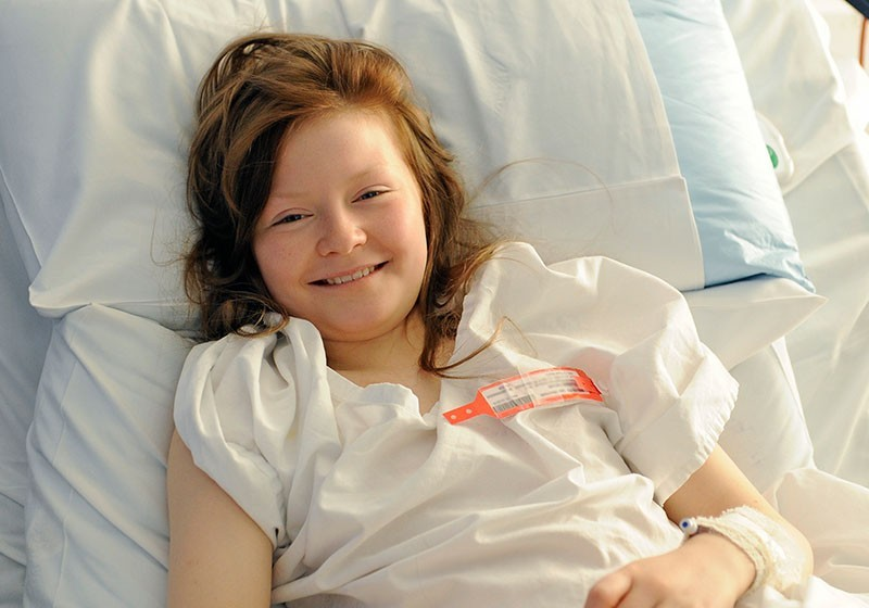 Patient smiling at Sydney Children's Hospital, Randwick