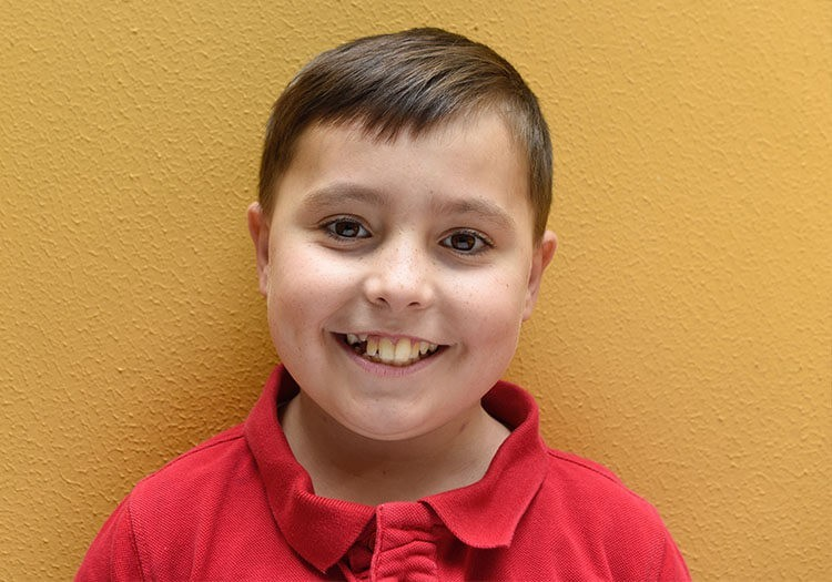 Patient Owen smiling for Gold Telethon at Sydney Children's Hospital Foundation