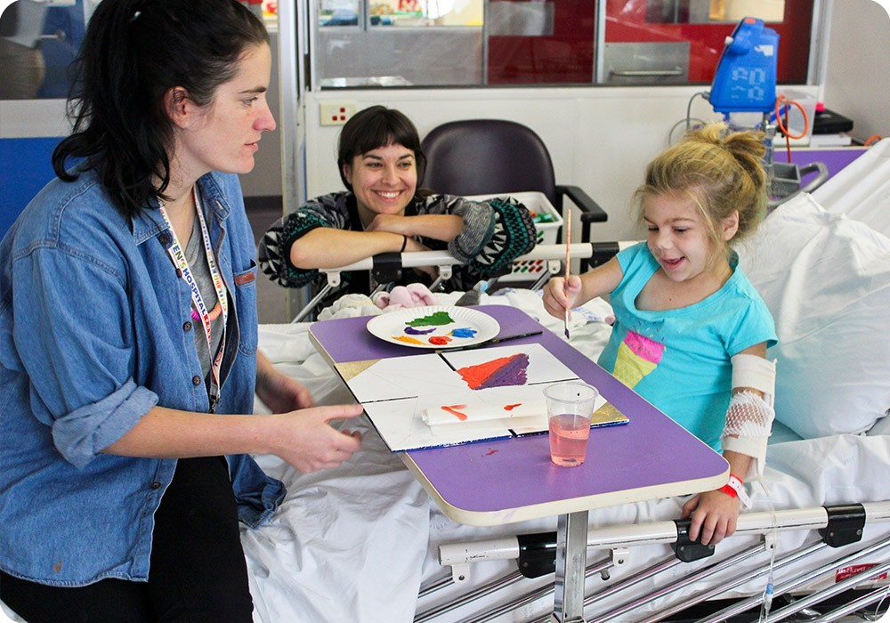 Patient painting at Sydney Children's Hospital, Randwick