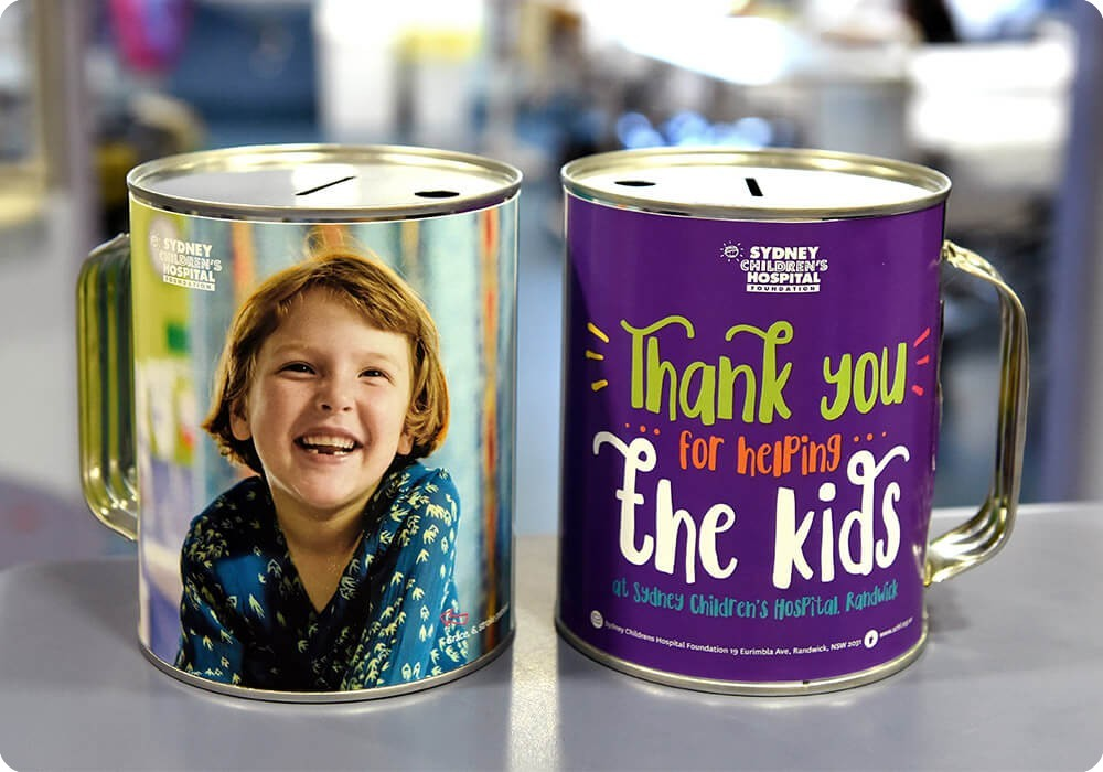 Sydney Children's Hospital Foundation collection tins