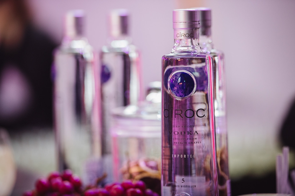 Vodka bottles on display at The Diamond Event