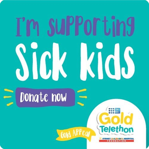 I'm supporting sick kids