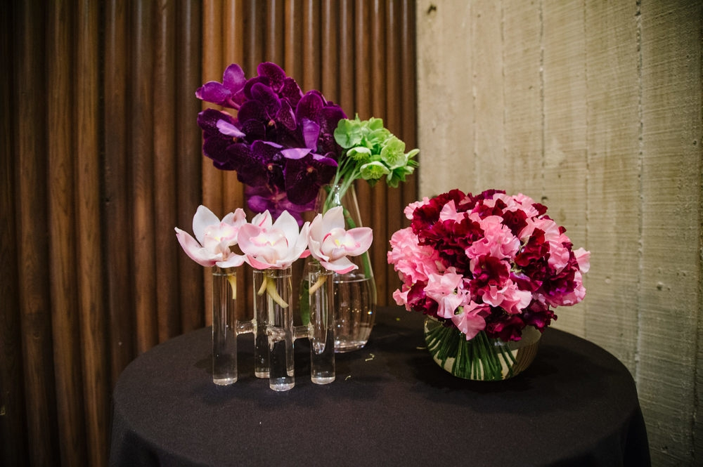 Flower display at The Diamond Event 2016